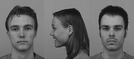 Por el hecho de ser sonreido por una mujer, un hombre es más atractivo al resto de las mujeres. En este caso el hombre de la izquierda recibe más puntos por parte de las mujeres que ven esta foto que el de la derecha, pese a que los dos fueron precalificados igual por un grupo distinto de mujeres.
