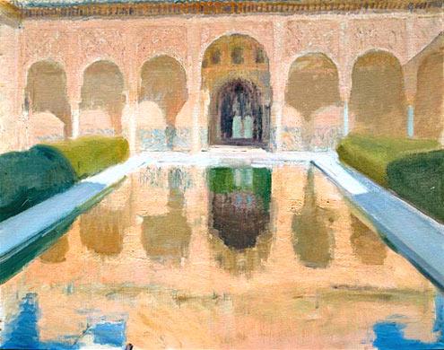 el-patio-de-comares-la-alhambra-de-granada-sorolla