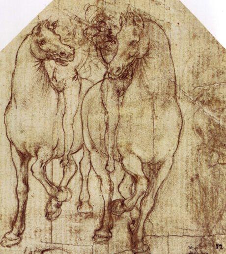Estudio de caballos y jinetes(1480)