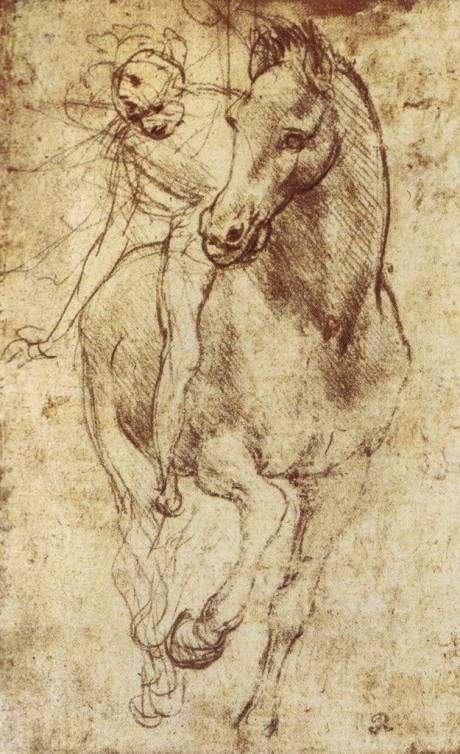 Estudio de caballos y jinetes(1481)